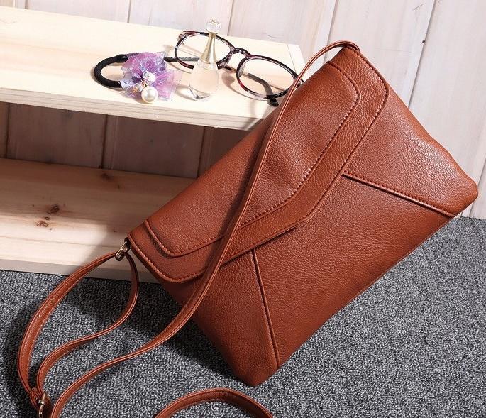 Fashion Vintage Small Envelope Bags Women's Leather Messenger Bag Handbags Shoulder Cross body Bag Clutch satchels 103bag(China (Mainland))