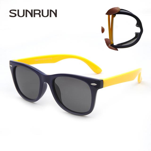 SUNRUN Дети Поляризованные Очки TR90 Покрытие Классической Моды Очки Дети Солнцезащитные очки 100% UV400 Óculos de sol s886