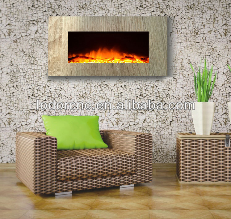 Wall Mounted Electric Fireplace With Led Light Decorative Electric