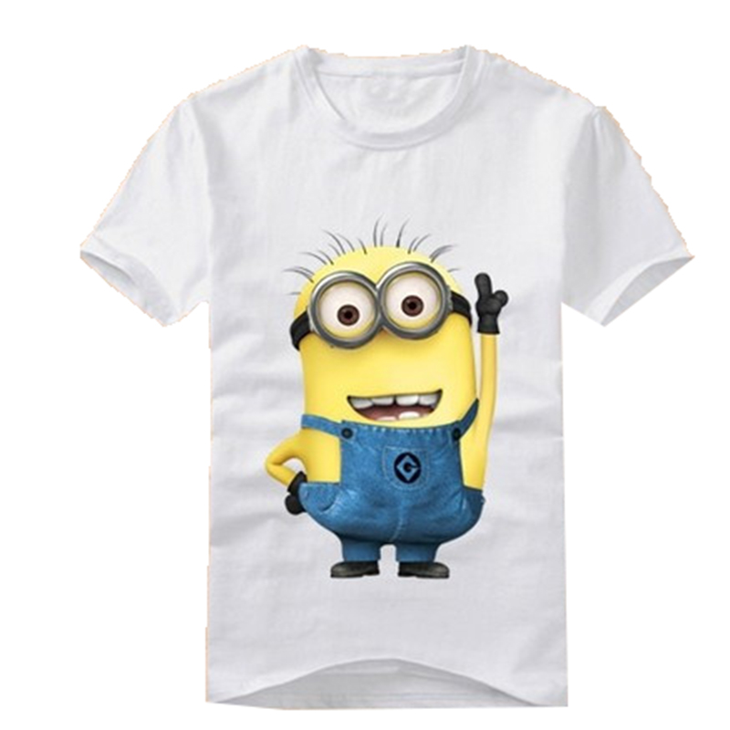 New Boys GirlsT-shirt Cartoon Anime Figure Despicable Me Clothes Kids Short SleeveTops Tees Summer Wear(China (Mainland))