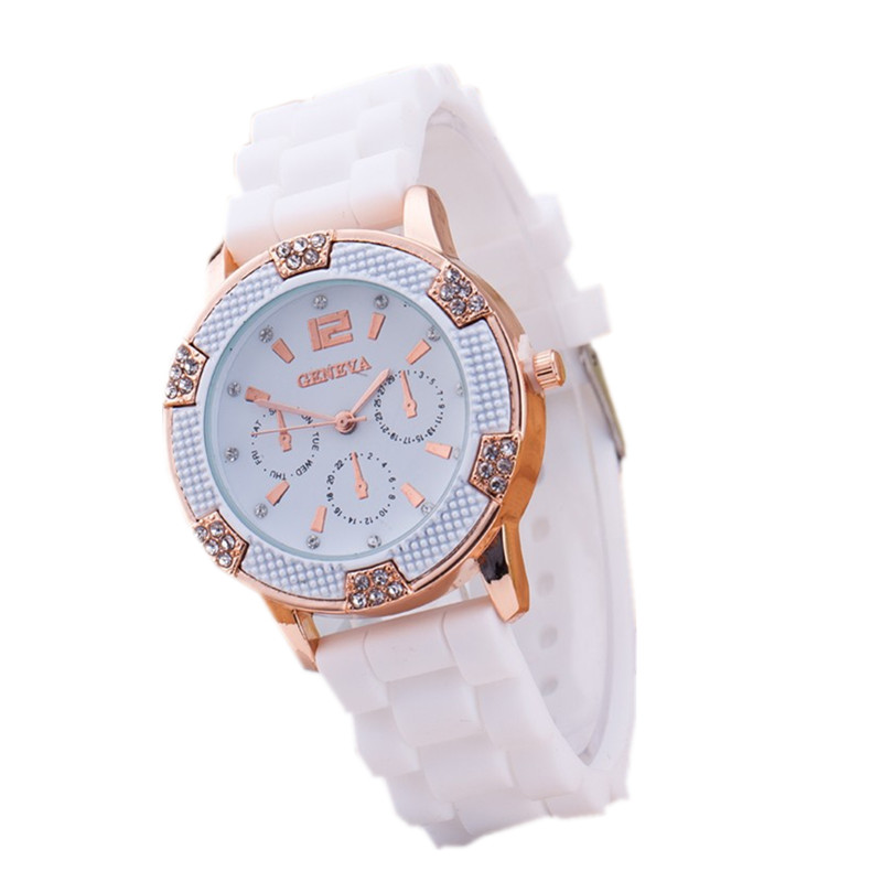 Гаджет  2015 New Fashion 7 colors Women Geneva Silicone Strap Thin Quartz Watch Lady Simple Exquisite Student Alloy Wristwatch Pomotion None Часы