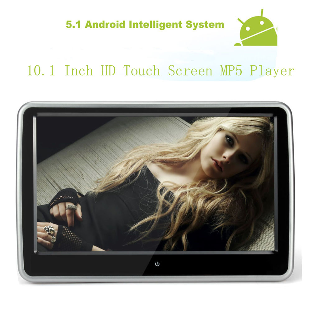 2017 10.1 inch Touch Screen monitor support USB SD MP3 MP4 1080P Audio Video input Android WIFI headrest monitor(China (Mainland))