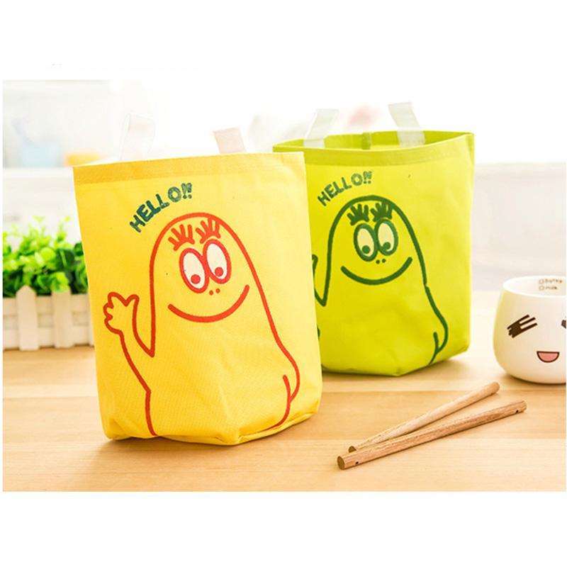 1PC Cute Cartoon House Door Hang Up Storage Organizer Cloth Stuff Storage Bag Wall Garden Decoration Bag Good Quality(China (Mainland))