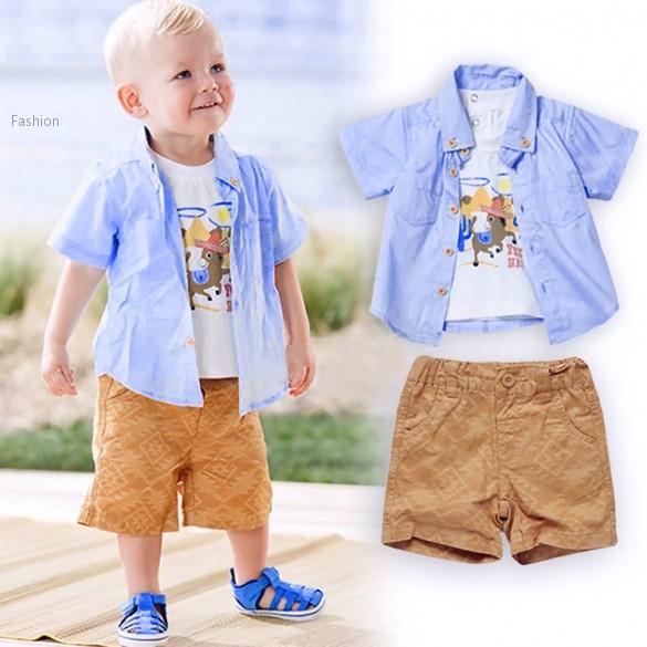 2015 New Design Kids European Style 3Pcs Clothing Set for