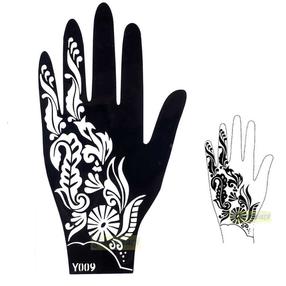 Henna hand designs stencils for Henna temporary tattoo stencils
