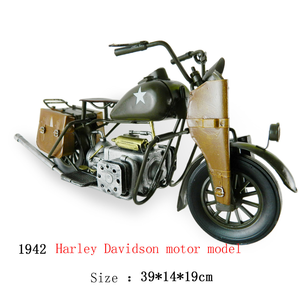 Antique craft motorcycle model handmade craft home decoration bar coffee house display birthday gift(China (Mainland))