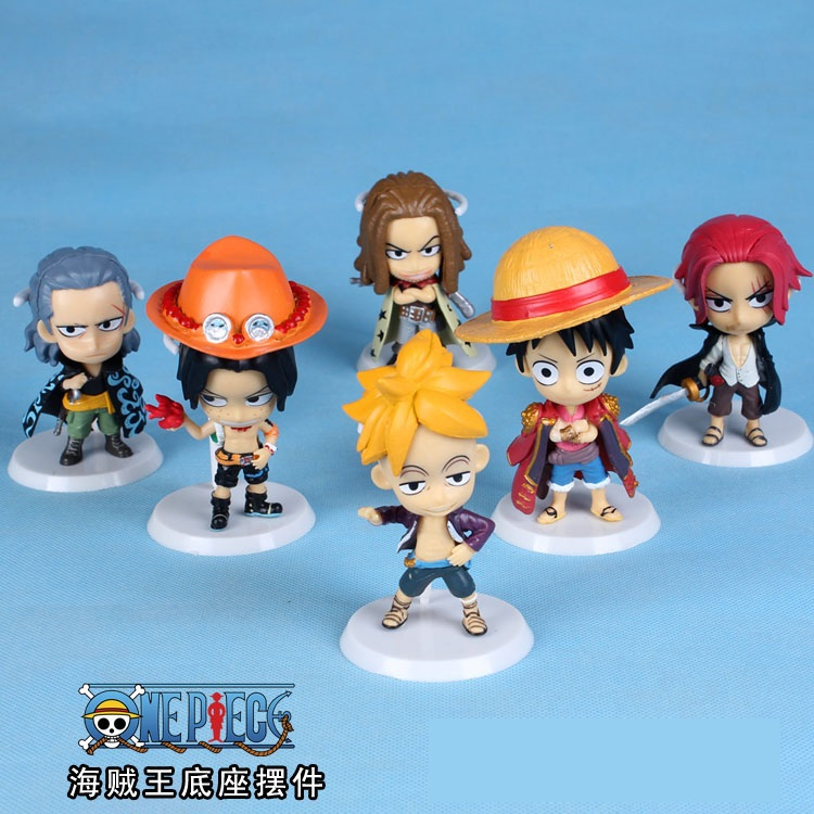 Anime One piece 71 generation 6Parts PVC Action Figure Collection Model Toys Doll 6cm Free Shipping(China (Mainland))