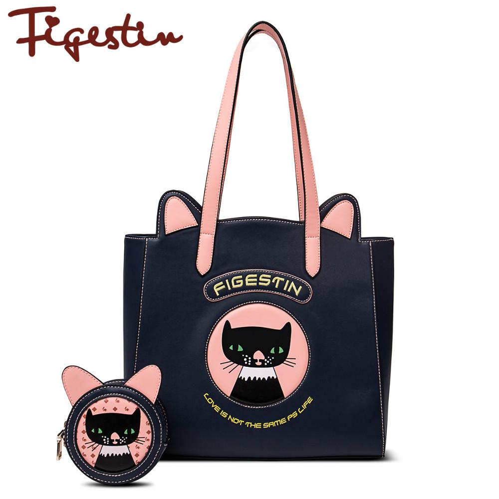 2016 Women Shoulder Bag Original Design Zipper Soft Pu Casual Tote Patchwork  Women Designer Shoulder Bags With Brand Cartoon<br><br>Aliexpress