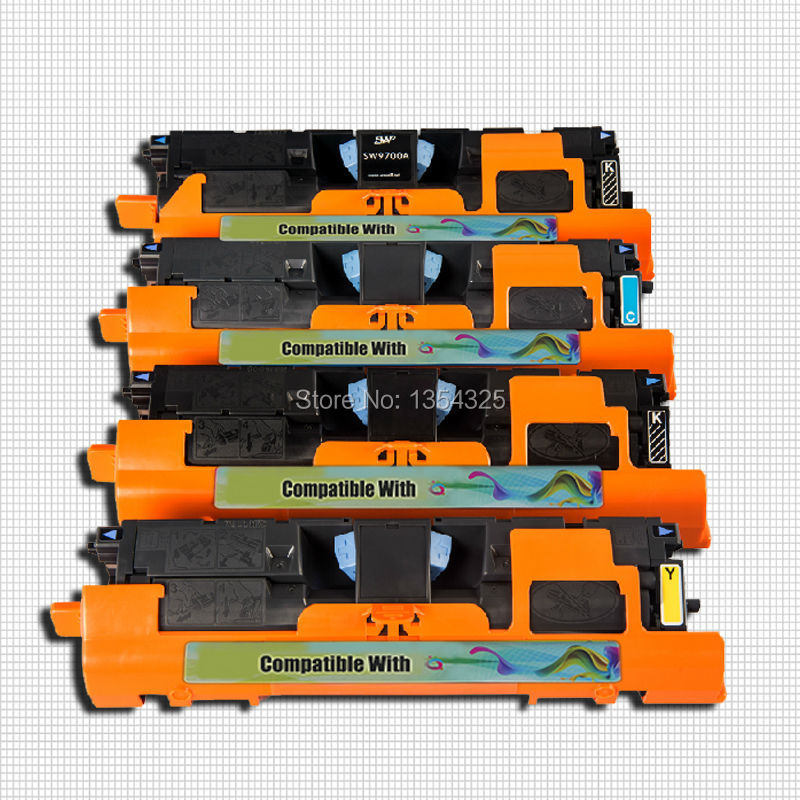 4PC Lot Compatible For HP Color LaserJet 2800 2800n 2800dn 2800dtn toner cartridge For HP C3960A
