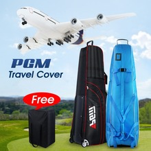 2016 PGM Golf Aviation Bag portable Golf package Golf Travel Bag Cover Thicken Folding Air Bag With Wheels 3 colors(China (Mainland))