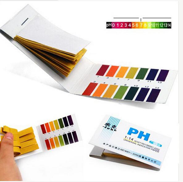 80 Strips Full Range pH Alkaline Acid 1-14 Test Paper Water Litmus Testing Kit(China (Mainland))
