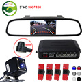 3in1 16MM Original Flat Sensors Car Video Parking Sensor with LED Trajectory Rear View Camera Connect