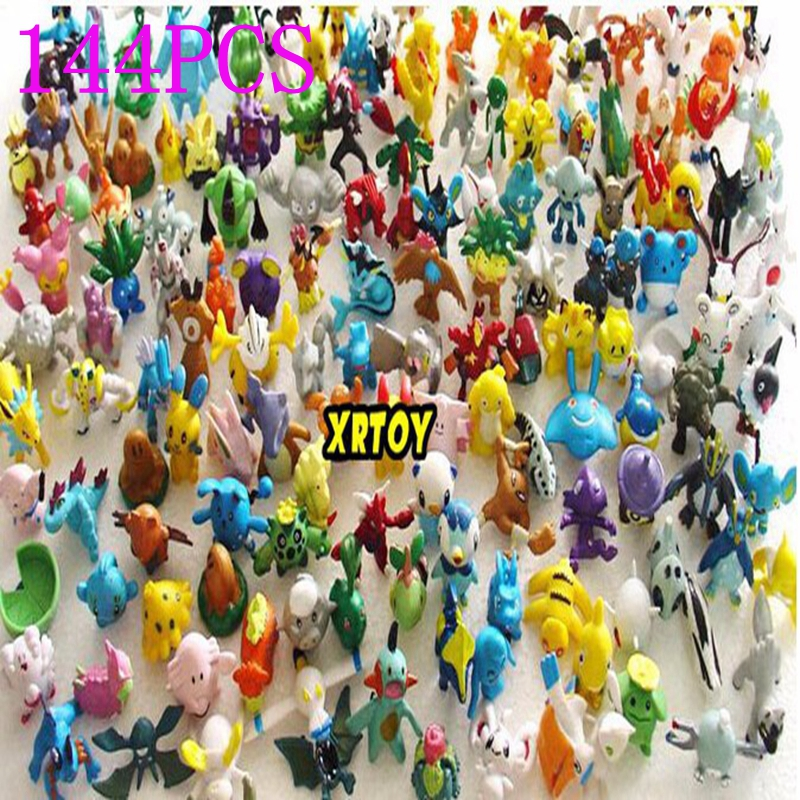 144pcs/lot Pokemon model Toys Figures PVC action toy figures 2-3 cm Mini Pokemon Animal model doll kids toys for Birthday Gift(China (Mainland))