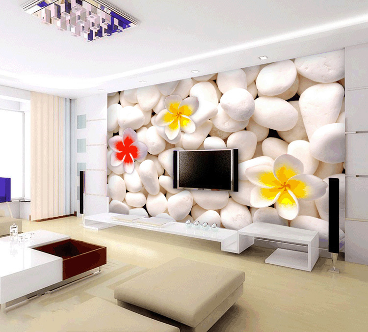 art wall stickers Large wallpaper modern brief flower mural three-dimensional 3d wallpaper painting tv sofa background wall