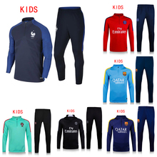 Top Quality Kids 2015 16 children boys training suit white tracksuit jackets youth survetement football 2016 soccer pants(China (Mainland))