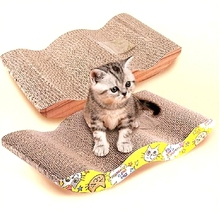 FD2581 Kitten Cat Scratching Board Wavy Scratch Pad Sisal Sharpening Claws Gift(China (Mainland))