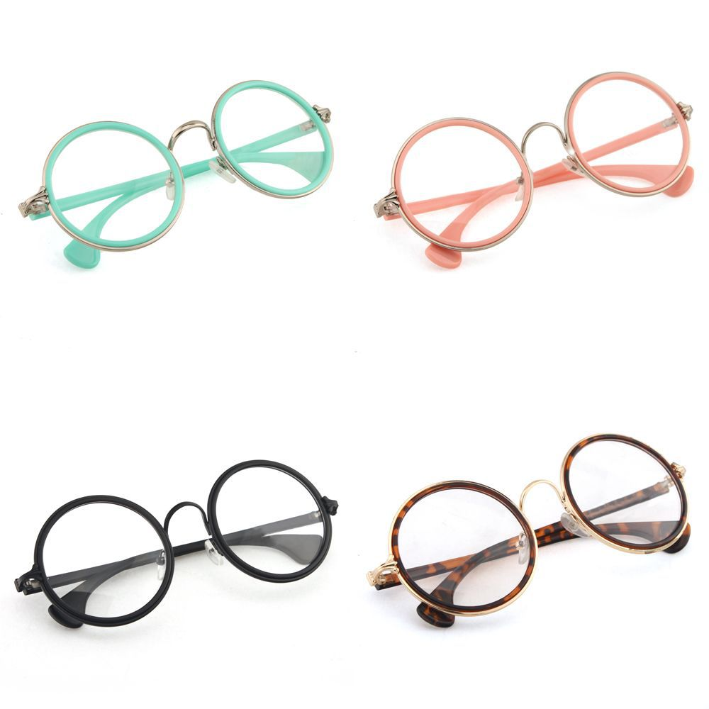 New Multi Color Retro Fashion Men Women Round Style Clear ...
