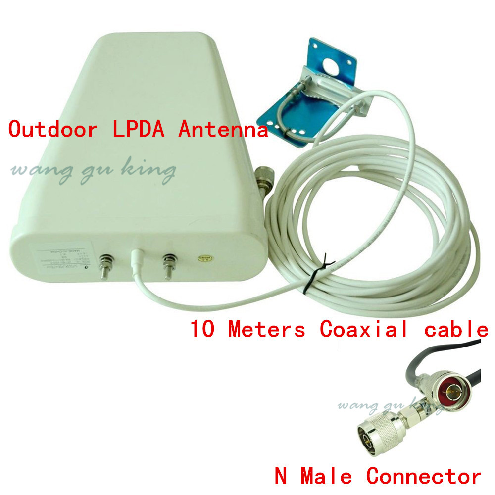 Outdoor Antenna 800-2500mhz frequency 3G 4G GSM CDMA DCS Outside Directional LPDA Antenna for Signal Booster Repeater +10m Cable(China (Mainland))