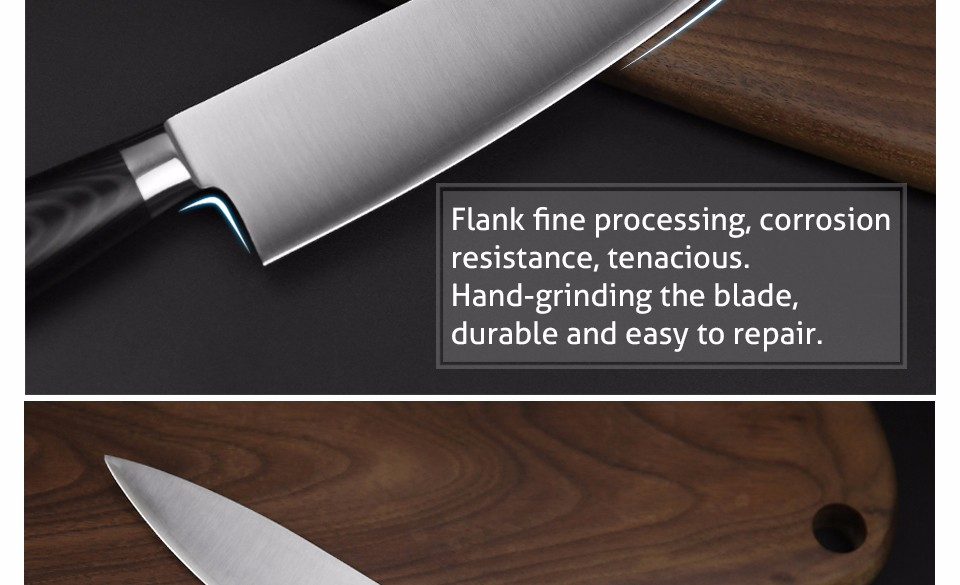 Buy XINZUO 8 inch chef knife three layers 440C clad steel kitchen knives micarta handle cleaver knife kitchen tackle free shipping cheap