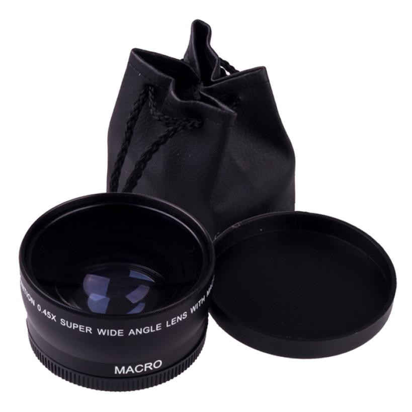 Гаджет  New 58mm 0.45X Wide Angle Macro Lens For Canon EOS 450D 500D 550D 600D 1100D  None Бытовая электроника