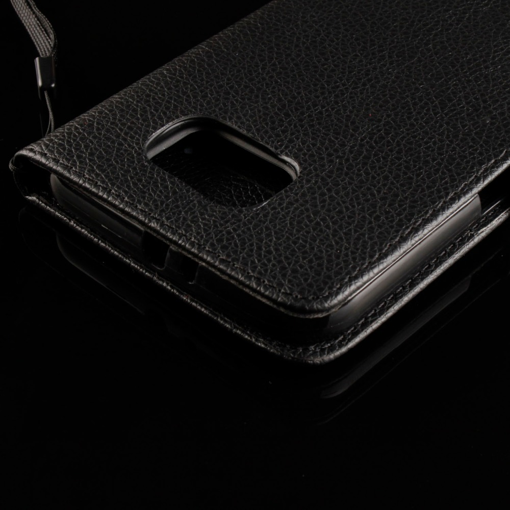 New Products Litchi Grain Flip Cover with Card Slot Case for samsung s7 plus(China (Mainland))
