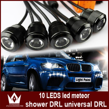 Night Lord super White round drl high power eagle eyes led meteor shower Light 10 LED Daytime Running Light Free shipment(China (Mainland))