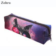 Zohra Sunglasses Cat 3D Printing Organizador Travel Makeup Organizer Pencil Bags Maleta de Maquiagem Neceser Women Cosmetic Bag