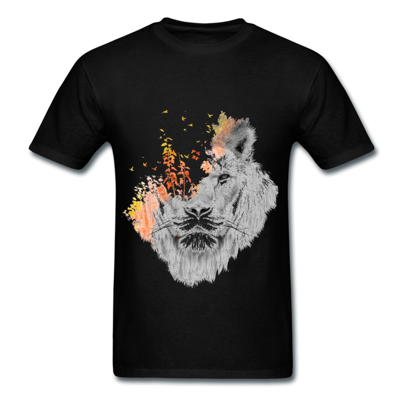 Gildan boys tee shirt animal lion grass custom your own for Animal tee shirts online