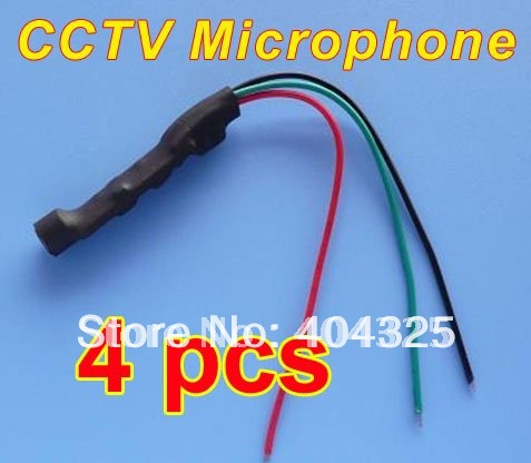 4pcs MINI CCTV Audio Microphone Mic Cable Adapter For Security System Camera CAM DVR<br><br>Aliexpress