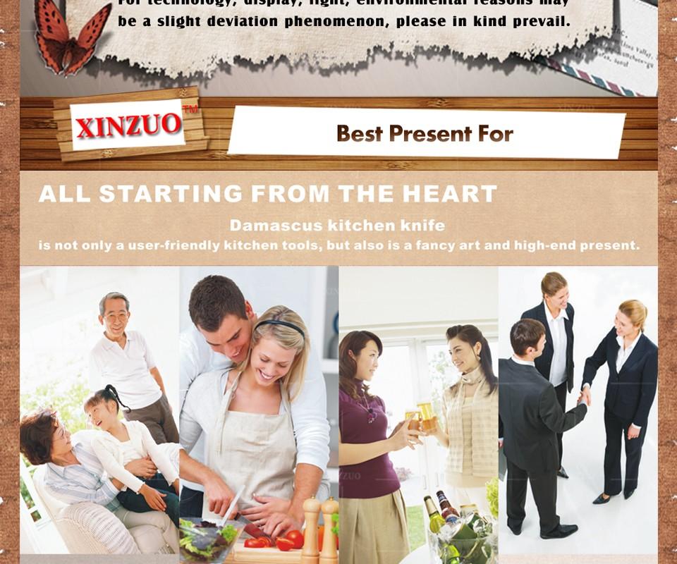 Buy XINZUO 3 pcs kitchen knives set 73 layers Damascus kitchen knife Japanese VG10 chef utility hammer striae forging free shipping cheap