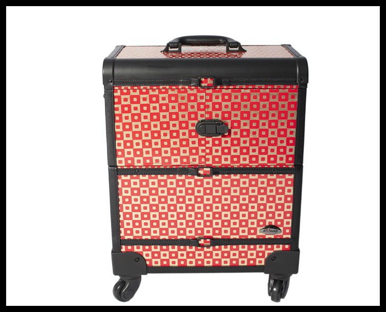 DHL Free Shipping makeup case Professional Cosmetic Salon Makeup Beauty Case Trolley Cosmetic Case(China (Mainland))