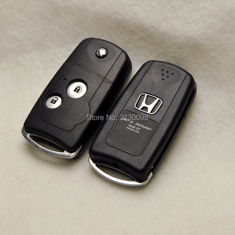 Modified Car Key Shell Flip Remote Car Key Case for Honda CRV Civic Fit 2 Buttons Car Key Cover Free Shipping(China (Mainland))