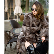 Best quality new fashion in winter Fox fur coats woman real fur coat women's vest natural silver Fox fur coat A#11(China (Mainland))