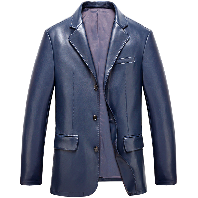 Free Shipping!fall 2015 New Mens Fashion Leather Suit High Quality Mens Large Yards Sheep Leather Jacket Mens Leather CoatОдежда и ак�е��уары<br><br><br>Aliexpress