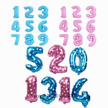 Nueva 1pcs16 pulgadas de color azul claro color de la impresión digital de aluminio globos globo cumpleaños boda venta al por mayor disposición del partido(China (Mainland))
