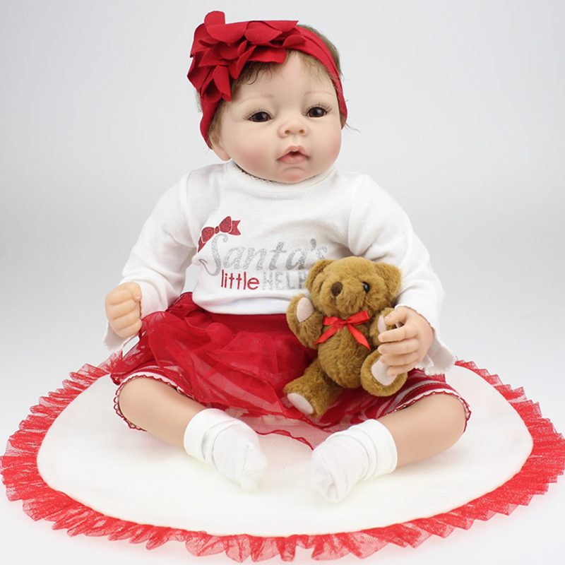 New Arrival 20inch/ 52cm Handmade Silicone Reborn Baby Doll Cute Girl Soft Body Impant Hair Gentle Touch Toy High Quality<br><br>Aliexpress
