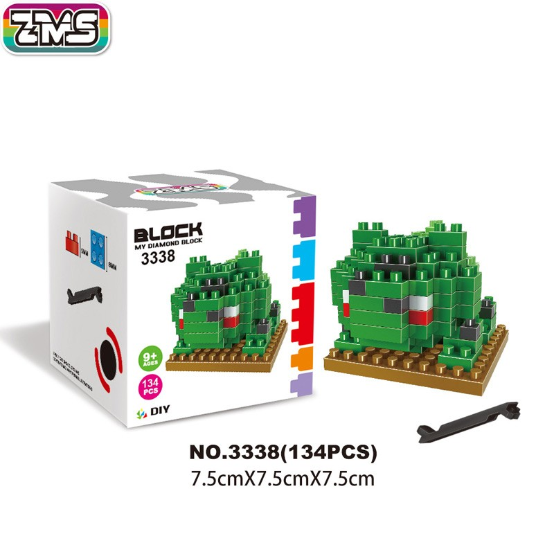 ZMS Bulbasaur blocks ego nero legoe star wars duplo lepin brick minifigures ninjago guns farm castle super heroes  -  ZRTang store