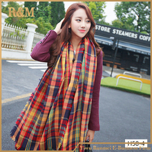 Major winter 2016 tartan scarf plaid scarf cuadros new designer unisex acrylic basic scarves women big size scarves