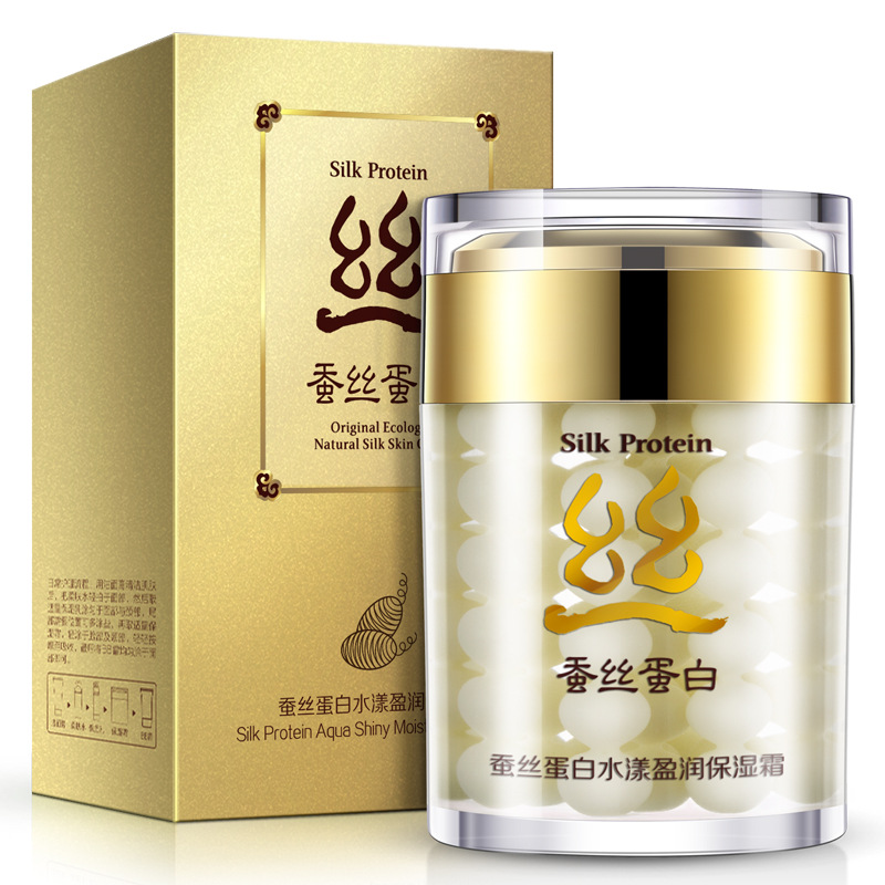 Hydrating Silk Protein Cream Tighten Skin Pores And Oil Control Brighten Face Skin Care Whitening Cream