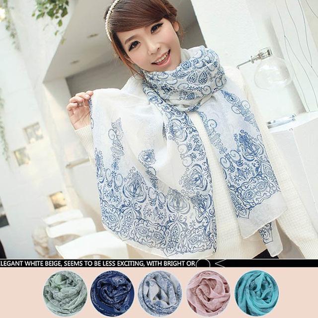 Женщины в длинная мягкий Handfeel накидка леди шаль бархат шифон шарф bufandas 4 цвета