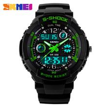 S SHOCK 2015 New SKMEI Luxury Brand  Men Military Sports Watches Digital LED Quartz Wristwatches rubber strap relogio masculino