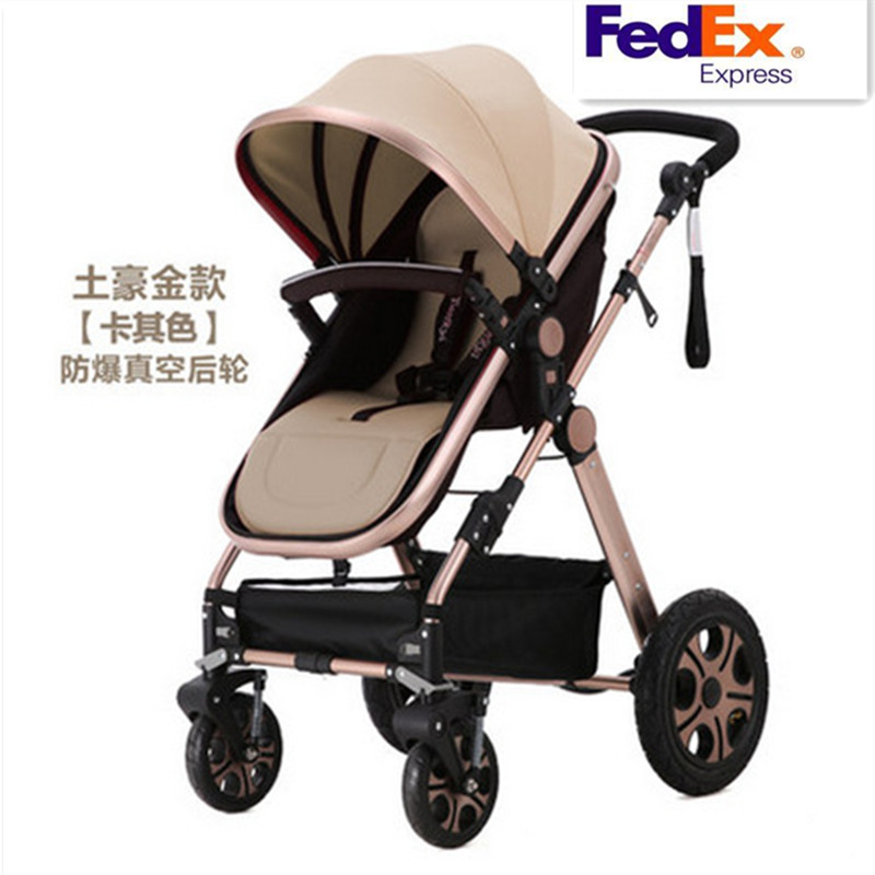 Luxury Baby Stroller Trolley wagon Baby Carriage High Landscape Folding Strollers Rubber Wheel Shopping Carts Poussette Puset(China (Mainland))