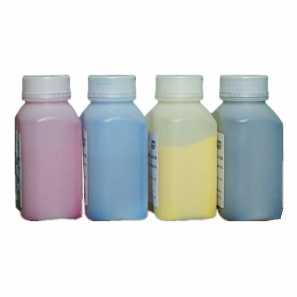 4 X (Bottle color toner powder+Chip) Compatible HP Color Laserjet CP1525NW/CM1415 color toner, laser toner toner free shipping(China (Mainland))