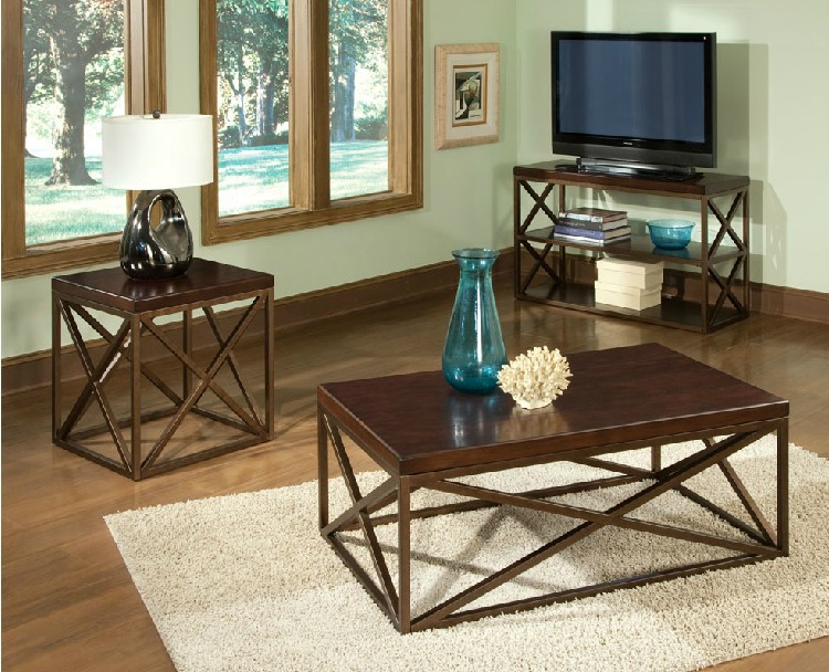American country retro living room coffee table wrought