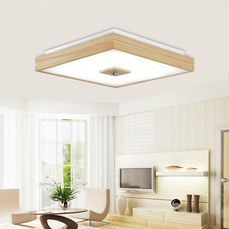 OAK Surface mounted Modern led ceiling lights for living room bedroom square indoor wooden ceiling lamp lighting light fixtures <br><br>Aliexpress