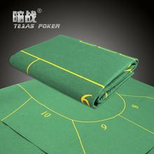 90*180cm 10 Players Rotary Baccarat Poker Set Fichas Poker Texas Hold'em Poker Table Cloth Fietro Felt Board Cloth(China (Mainland))