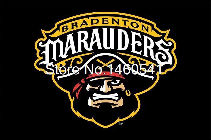 Bradenton Marauders Flag 3ft X 5ft Polyester Minor League Baseball Florida State League FSL Banner 144* 96cm Custom Flag(China (Mainland))