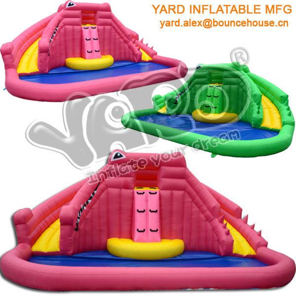 Crocodile water slide,inflatable water slide,giant inflatable water slide for sale