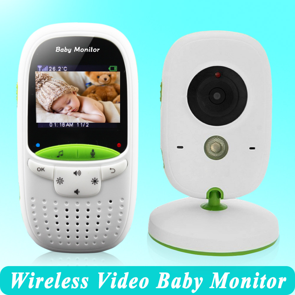 High quality Wireless 2.0 inch Video Color Baby Monitor Security Camera Baby Nanny Intercom Night Vision Temperature Monitoring(China (Mainland))
