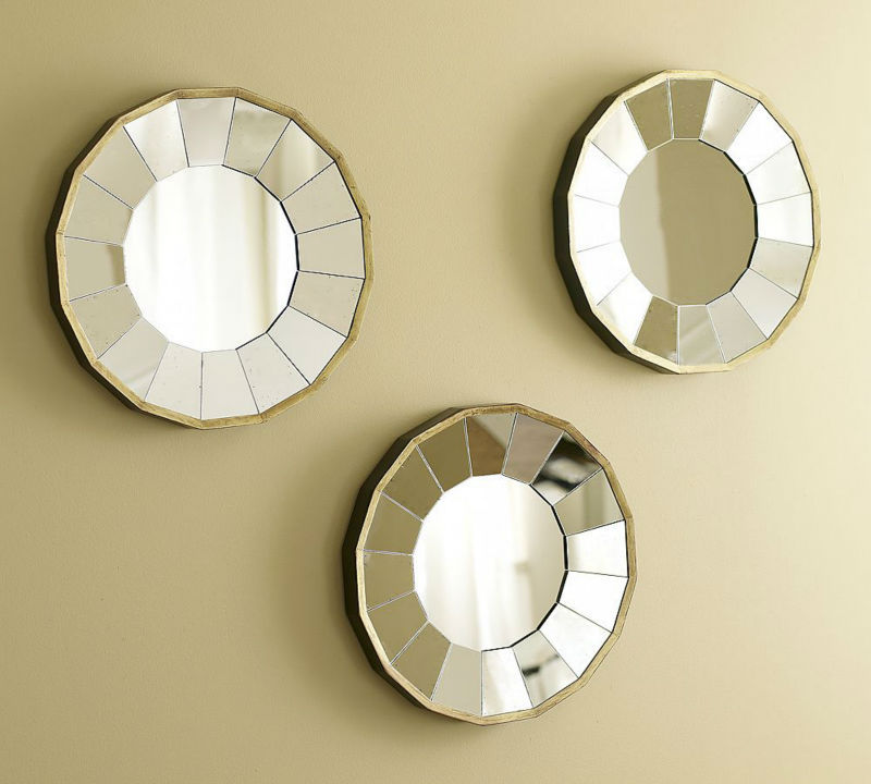 Wall decorative mirror art round mirror wall mirror sun for Decorative mirrors for less